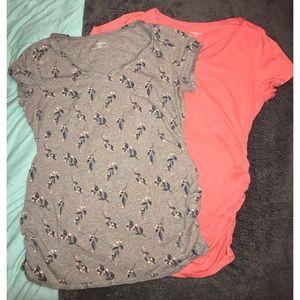2 maternity T-shirts